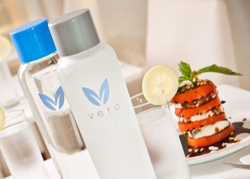 Vero Water Served in Restaurants Named Top 50 In The World